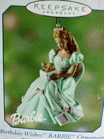 Birthday Wishes Barbie #2 Ornament