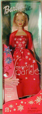 2002 Season's Sparkle Barbie