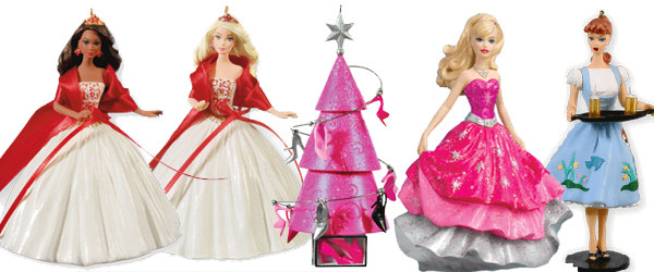 2010 Hallmark Barbie Christmas Ornaments