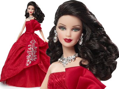 K-mart Limited Edition Brunette 2012 Holiday Barbie