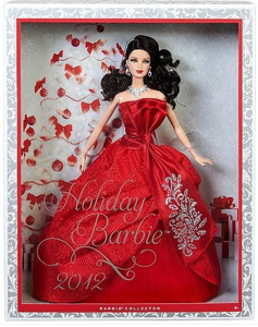 Brunette 2012 Holiday Barbie in box - nrfb