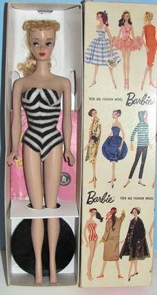 1959 - 1961 Ponytail Barbie Box