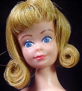Vintage Straight Leg Midge Doll Head & Face