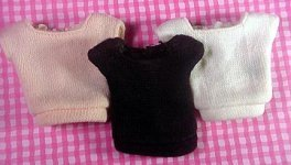 Vintage Barbie Fashion Pak Square Neck Sweater