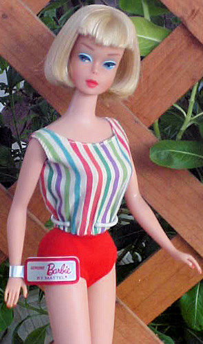 Vintage American Girl Barbie in European Swimsuit