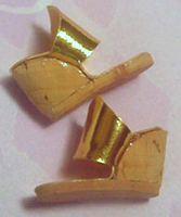 Vintage Barbie Cork Wedge Shoes with Gold Strap