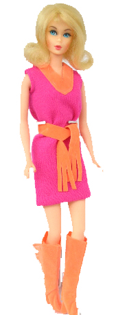 Barbie wearing Fringe Benefits #3401 (1971-72)