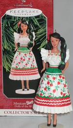 Mexican Barbie Ornament