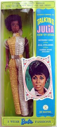 """Diahann Carroll As JULIA Barbie Collector 12/"""" Doll Mattel 50th Anniversary J"""
