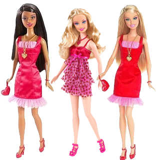 Valentine Barbie Dolls