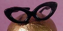 Vintage Barbie Black Glasses