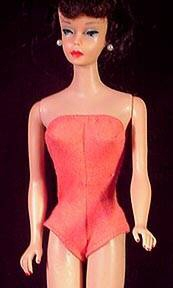 Vintage Barbie Doll Accessories Coral Swimsuit