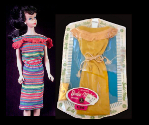 Vintage Barbie Fashion Pak Knit Dress (1963)