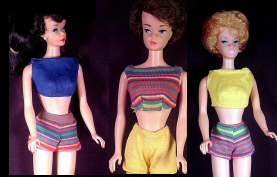 Vintage Barbie Fashion Pak Knit Shorts Set 1963