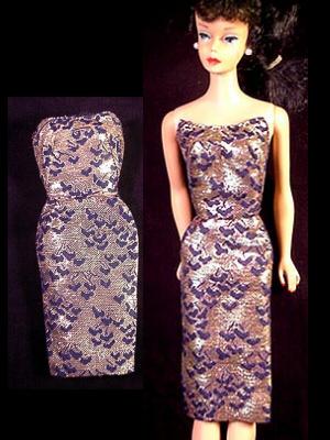 Vintage Barbie Fashion Pak Lame Sheath (1963)