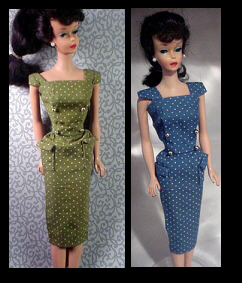Vintage Barbie Fashion Pak Polka-Dot Sheath Dress (1962-1963)
