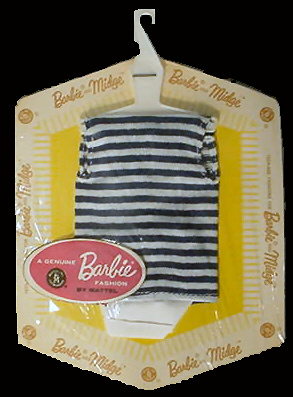 Vintage Barbie Fashion Pak T-Shirt and Shorts (1962-1963)