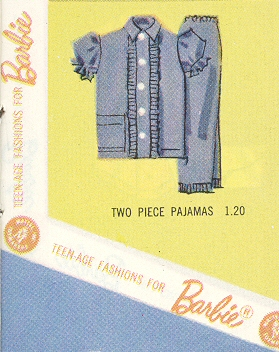 Vintage Barbie Fashion Pak Two-Piece Pajamas