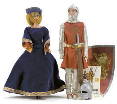 Vintage Barbie Guinevere and King Arthur