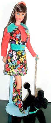 Vintage TNT Barbie wearing Poodle Doodles #1061 (1972)