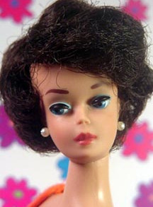 Brunette Bubblecut Vintage Barbie