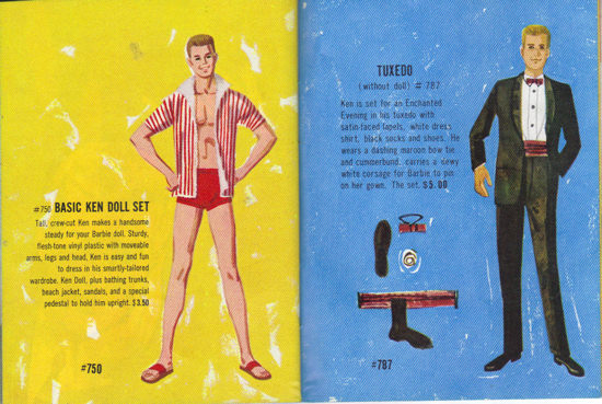 Ken in 1961 Barbie Booklet