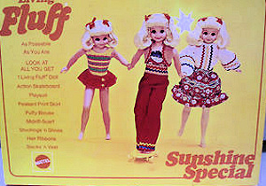 Sunshine Fluff Doll Gift Set #1249 (1971) Special Sears Exclusive Box Cover