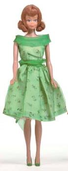 Vintage Midge Doll wearing Modern Art