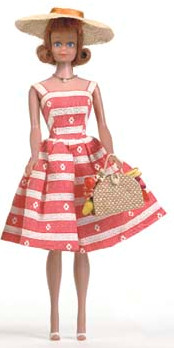 Vintage Midge Doll wearing Busy Morning #956 (1963)