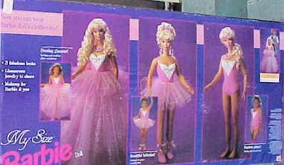 Back of Box - First My Size Barbie