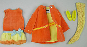 Vintage Skipper Living Skipper Very Best Velvet Set #1586 (1970 - 1971)