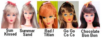 Vintage Barbie TNT Hair Colors