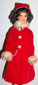 Vintage Francie Japanese Red Coat