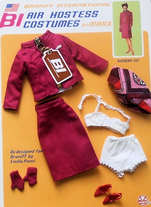 Barbie Braniff Airlines Raspberry Hostess Suit