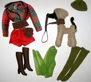 Barbie Mod Ensemble Hot Togs Complete