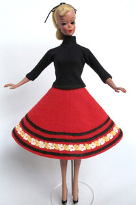 """11"""" Bild Lilli doll in outfit # 1153 sold for $3800"""