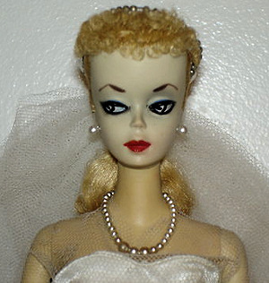 #1 blonde ponytail Barbie received 42 bids and sold for $6,433.11.