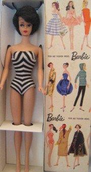 1961 Bubblecut Barbie in original box