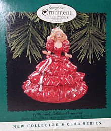 In 1996 Hallmark issued the 1988 Holiday Barbie Ornament as a Collector's Club exclusive