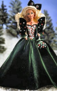 Happy Holiday Barbie Dolls