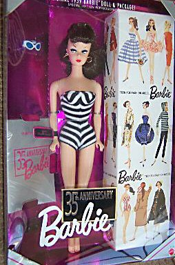 Brunette 1994 35th Anniversary Vintage Barbie Reproduction in Box