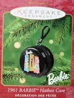 2001 1961 Barbie Hatbox Case Ornament