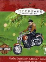2001 Harley Davidson Barbie Ornament