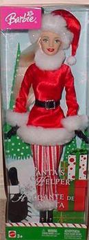 2004 Santa's Helper Barbie