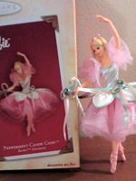Barbie Peppermint Candy Cane Ballerina Ornament