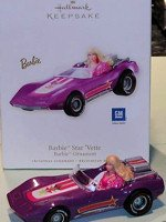 Barbie Star' Vette Ornament