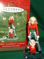 Barbie and Kelly on the Ice Ornament