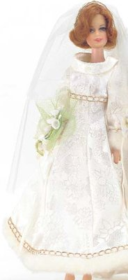 Stacey wearing Bridal Brocade #3417 (1971 - 1972)