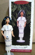 Dolls of the World Native American Barbie Ornament