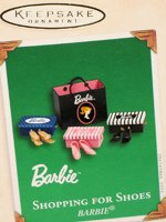 Shopping for Shoes Barbie Ornament